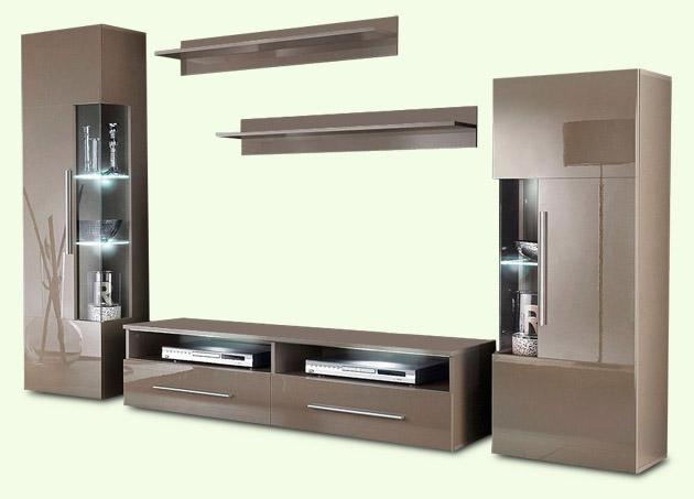 wohnwand hochglanz cappuccino die neuesten innenarchitekturideen. Black Bedroom Furniture Sets. Home Design Ideas