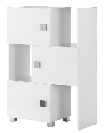 schiebeelement regal schrank badezimmer wei hochglanz neu 727755 36a ebay. Black Bedroom Furniture Sets. Home Design Ideas