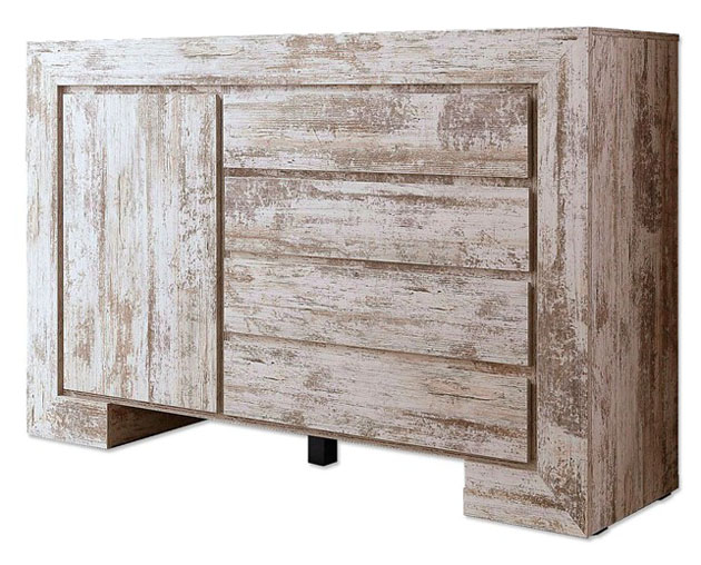 sideboard wohnzimmer schrank antik optik wei gewischt neu 839856 56a ebay. Black Bedroom Furniture Sets. Home Design Ideas